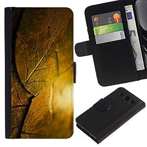KingStore / Leather Etui en cuir / Samsung Galaxy S3 III I9300 / Lista Krysha krovlya Sloy