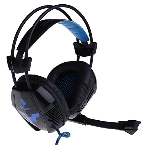 Sades A30 Professional USB Stereo Gaming Headset Headphone with Mic for PC Gamer