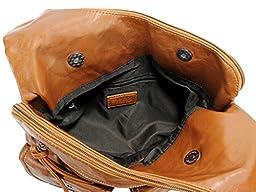 Scarleton Soft Washed Decorative Center Pocket Crossbody Bag H179304A - Brown A