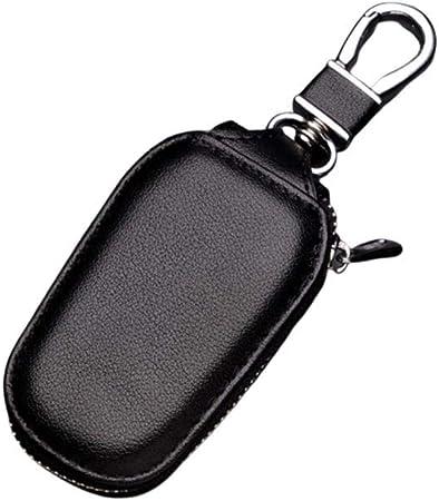 Custodia a portafoglio in pelle per auto portachiavi Custodia a portafoglio nera in pelle multifunzionale Custodia a chiave in pelle Custodia a chiave in pelle per auto Uomo Blue
