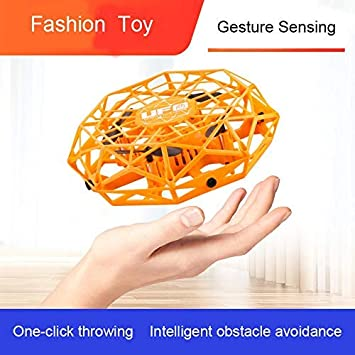 Gesture-Sensing Hand-Controlled Four-axis Drone USB Charging,Infrared Sensors Interactive Drone Flyer Toys for Boys Girls Kids UFO Drone Flying Ball Toys