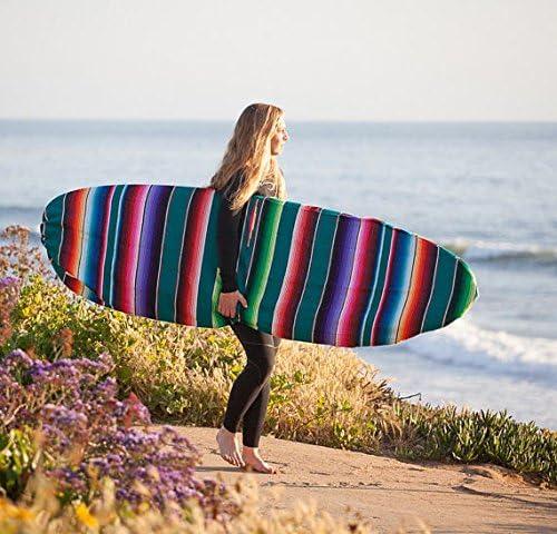 """サーフボードSurfboard Sock/バッグ–- Mexican Blanketスタイル。Awesomeサーフアクセサリー。ハンドメイド・ボードFits up to 6' 0"""""""