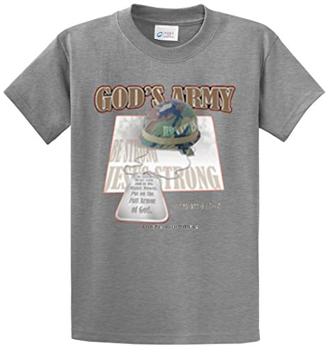 CHRISTIAN OUTFITTERS - GOD'S ARMY PRINTED TEE SHIRT - GREY 6XL