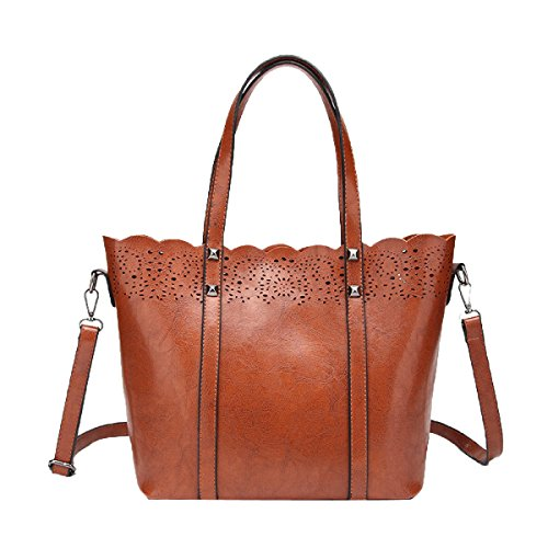 Lady Fashion Pu Bolso De Cuero Bolsa De Hombro Bolso De Crossbaoy Satchel Para Las Mujeres Brown