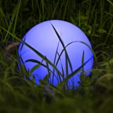 Colour Changing Ball Lamp,Homever LED Solar Waterproof Floating Ball Lights Outdoor  Decorative Globe Lamp with 9 Colour Changing Mode, for Garden/Pond/Pool/Party