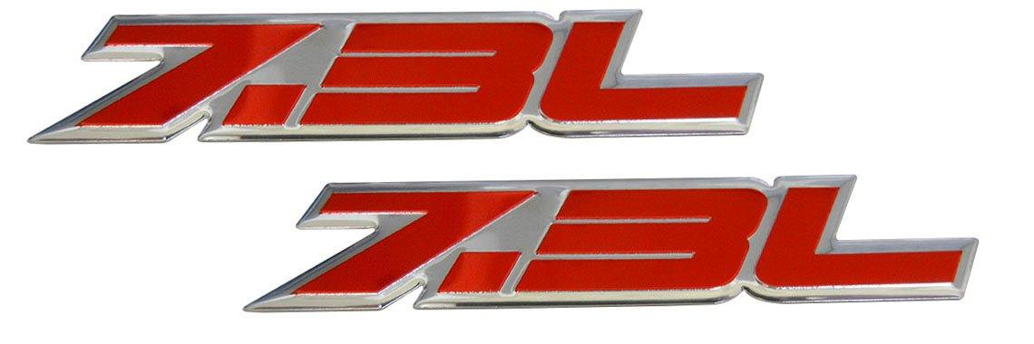 2 BLACK /& RED CUSTOM 7.3L DIESEL POWERED F250 F350 POWER STROKE EMBLEMS
