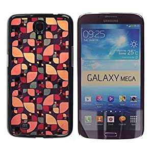 PC/Aluminum Funda Carcasa protectora para Samsung Galaxy Mega 6.3 I9200 SGH-i527 sun pattern floral abstract green color / JUSTGO PHONE PROTECTOR