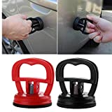 Glumes 2.3'' & 2 '' Rubber Suction Cup Dent Puller, Handle Lifter | Dent Puller Bodywork Panel Remover Tool | Dent Remover | Heavy Duty Galss Mirror Lifting for Truck Car Van Phone Screen 2 pcs (Black & Red)