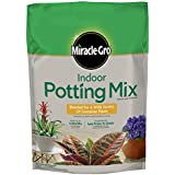 Miracle-Gro Indoor Potting Mix 6 quart, Grows Beautiful Houseplants