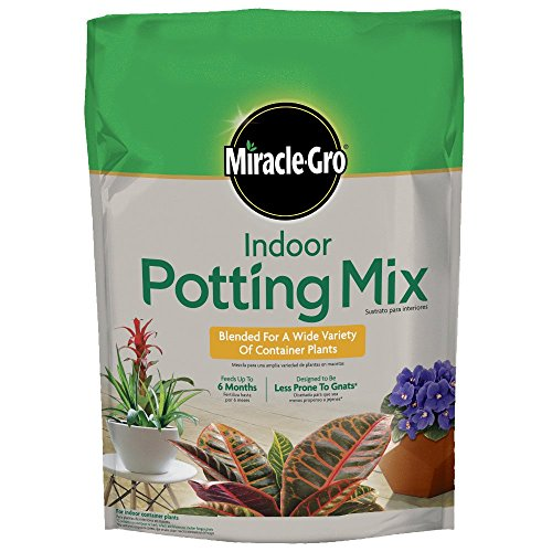 Miracle-Gro Indoor Potting Mix 6 quart, Grows Beautiful Houseplants