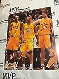 ACE Authentic Kobe Bryant, Lamar Odom & Pau Gasol Autograph 16x20 Los Angeles Lakers Photo