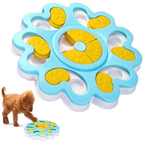 ADOGO® Dog Puzzle Feeder Toy,Puppy Treat Dispenser Puzzle Slow Feeder Dog Toy,Dog Training Games Feeder with Non-Slip…
