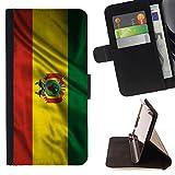 FJCases Bolivia Bolivian Waving Flag Slim Wallet Card Holder Flip Leather Case Cover for Microsoft Lumia 540 Dual Sim