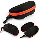 Mokingtop(TM)Fashion Portable Carabiner Eye Glasses Sunglasses Hard Case Protector Box (Orange)