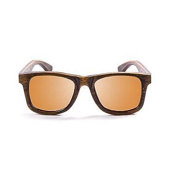 Ocean Sunglasses wood Victoria - lunettes de soleil polarisées en Bambou - Monture : Noir - Verres : Revo Orange (53002.2) RmVmV9