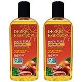 Pack of 2 x Desert Essence Pure Jojoba Oil - 4 fl oz