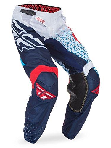 Fly Kinetic Mesh Pants (Fly Racing Red-White-Blue 2017 Kinetic Mesh Trifecta Kids Mx Pant (28