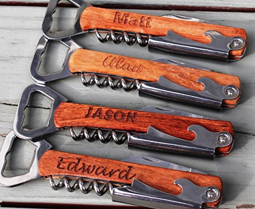 Personalized Corkscrew And Multi-Tool made our list of personalized camping gifts for people who camp in tents and those who have RV campers!