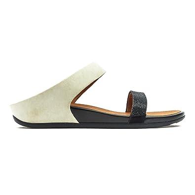 41b0c951e Fitflop FF2 Womens Black   White Banda Micro Crystal Slide Sandals   Amazon.co.uk  Shoes   Bags