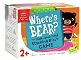 Peaceable Kingdom Where's Bear? - The Hide-and-Find Stacking Block Game for 2-Year-Olds