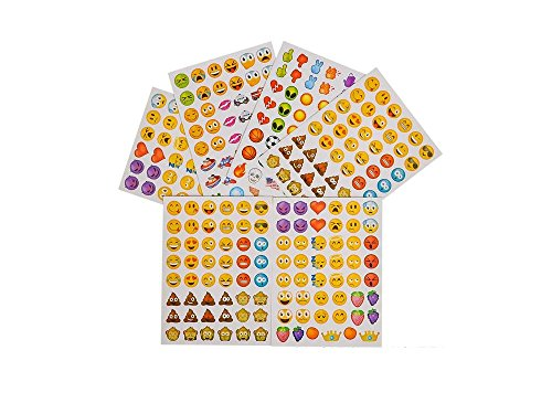 1728 EMOJI Emoticon STICKERS – PARTY FAVORS – 36 Sheets of 48 Stickers – 36 TATTOOS – Smiley PARTIES – Daycare – DOCTOR – Classroom – Teachers REWARDS
