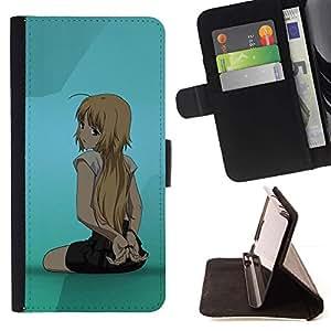 Momo Phone Case / Flip Funda de Cuero Case Cover - Cute Girl Anime - Samsung Galaxy S5 V SM-G900