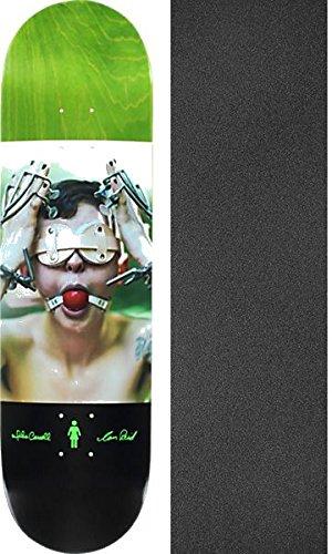 笑いイライラするグリーンバックGirl Skateboards Mike Carroll x Ian Reid Izzyスケートボードデッキ – 8.37