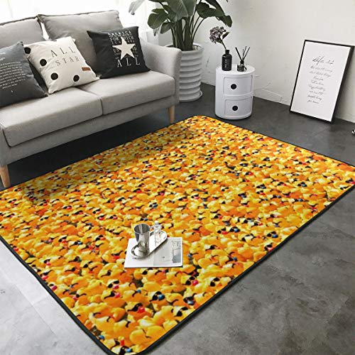 KasaBlaro Yellow Rubber Ducky with Sunglasses Print Area Rug Carpet Contemporary Rugs Living Room Dining Area Rugs Room Rugs Office Rugs Modern Rug 80