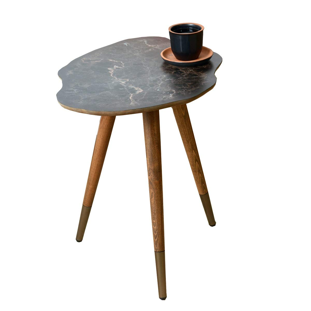 CasaCulina from The Past to Future Collections Print Modern Side End Table Coffee and Cocktail Table,Nesting Table with Multiple Color Option (Marble) by Casa Culina