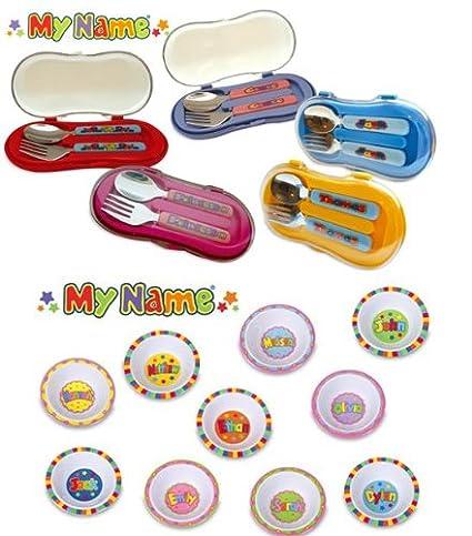 JOHN HINDE personalizada para niños de cuchara y tenedor de juego de cubiertos ADAM