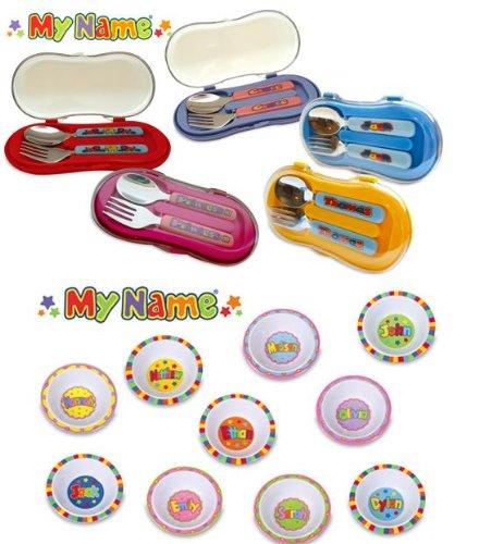 JOHN HINDE personalizada para niños de cuchara y tenedor de juego de cubiertos ADAM: Amazon.es: Hogar