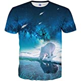 Hgvoetty Unisex Realistic 3D Digital Printing Short Sleeve T-Shirts XXL
