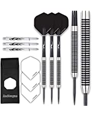 RED DRAGON Pegasus Tungsten Steeltip Darts Set 22g, 24g, 26g, 28g, 30g with Flights, Stems and Wallet