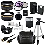 Deluxe Accessory Kit for Pentax Camera SLR 645D K-01 K-3 K-5 II K-5 IIs K-7. Includes Wide Angle & Telephoto Lenses, 3 Piece Filter Kit, Replacement Battery, Mini HDMI, Case, Tripod