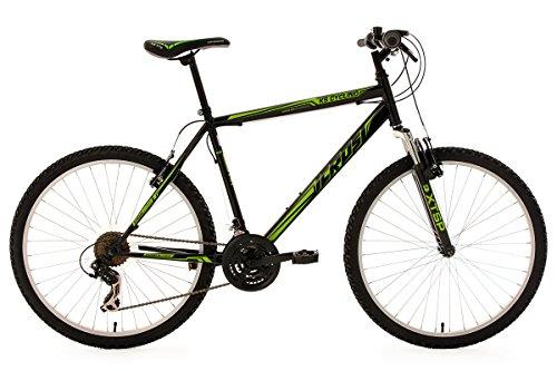 KS Cycling Fahrrad Mountainbike Hardtail Icros, Schwarz/Grün, 26 Zoll, 313M