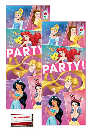"(2 Pack) Plastic Disney Princess Dream Big Birthday Door Poster, 60"" x 27"" (Plus Party Planning Checklist by Mikes Super Store)"