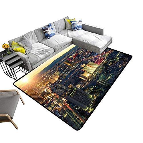 Natural Fiber Area Rug Las Vegas at Sunset Suitable for Bedroom Home Decor 5