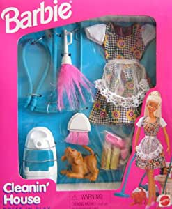 barbie house setting games cleanin house dress n play set w 10421