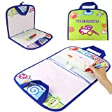 Coolplay Kid Activities Water Drawing Mat Painting with Water Pen Airplane Travel Toy for Toddlers