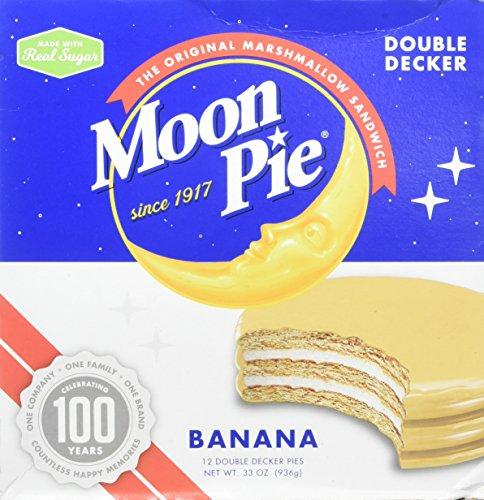 MoonPie Double Decker, Banana, 2.75oz, 12 Count (Pack of 6, 72 Count Total) ()