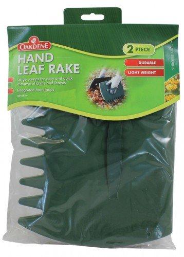 Oakdene Garden Hand Leaf Rake Large Scoops Quick Removal Of Grass/Leaves L-FENG-UK