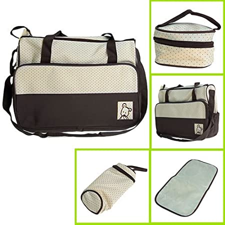 5pcs Baby Nappy Changing Bags Set/Baby Diaper Bags Set by M F Limited