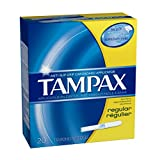 Tampax Cardboard Applicator, Regular Absorbency Tampons 20 CT (Pack of 18)