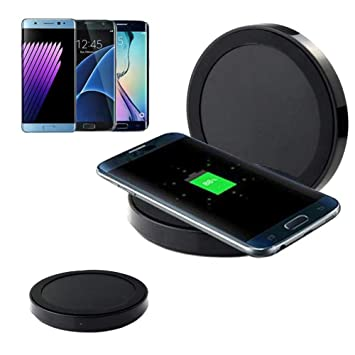 Malloom Cargador inalámbrico Qi Wireless Power Charger Charging Pad para Samsung Galaxy Note 9 (Negro)