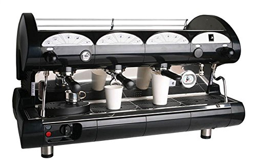 Commercial Volumetric Espresso Machine 3 Groups & 2 Steam Wands (Red)