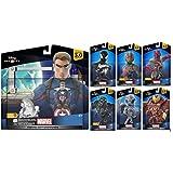 Disney Infinity 3.0 Marvel Battlegrounds Playset Themed Bundle Captain America, Black Suit Spiderman, Black Panther, Ultron, Hulkbuster Iron-man, Vision, and Ant-man