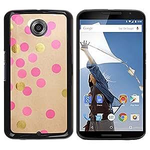 "Pulsar Snap-on Series Teléfono Carcasa Funda Case Caso para Motorola Google NEXUS 6 / XT1100 , Pink Paper lunar de Brown"""