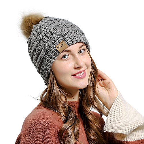 LEXUPA Men Women Baggy Warm Crochet Winter Wool Knit Ski Beanie Skull Slouchy Caps Hat(One -