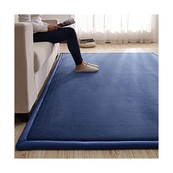 Lyfreen Memory Foam Baby Crawling Mat Modern Entrance Rug Baby Foam Play Rug for Boys Girls Ultra Soft Bedroom Mat Carpet Infant Toddler Play Mat, Navy Blue 5.9'x 6.56′ Livingroom Rug Yoga Mat