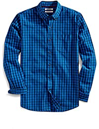Men's Slim-Fit Long-Sleeve Gingham Slub Shirt